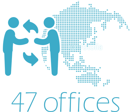 More than 45 offices
