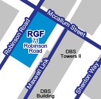 シンガポールオフィス地図